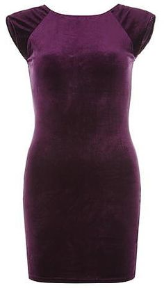 Womens plum ax paris velvet bodycon dress from Dorothy Perkins - £27 at ClothingByColour.com