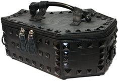Kreepsville 666 Black Studded Coffin Casket Gothic Purse Handbag