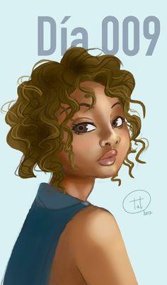 Daily009-Curly hair by TatsuZam.deviantart.com on @DeviantArt