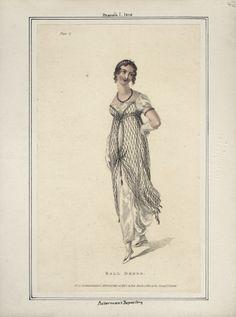 Ackerman's Repository, March 1810, Ball Dress