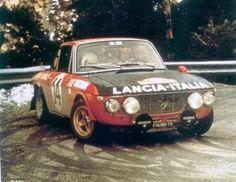 Lancia Fulvia 1.6HF Number 14 driven by Sandro Munari and Mario Manucci to win the 1972 Monte Carlo Rally.