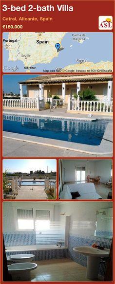 3-bed 2-bath Villa in Catral, Alicante, Spain ►€180,000 #PropertyForSaleInSpain