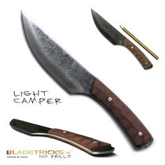 Bladetricks Custom Light Camper Knife #blade #outdoors
