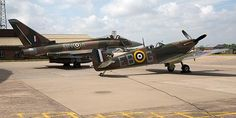 The Typhoon along with a WWII Spitfire
