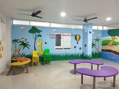 3d Wall Painting, Cartoon Painting, Texture Painting, School Hall, Wall Murals, Wall Art, Preschool Art, Wallpaper S, Creative Art