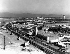 Las Vegas Strip from the Dunes, Dec. 5, 1963. Las Vegas News Bureau