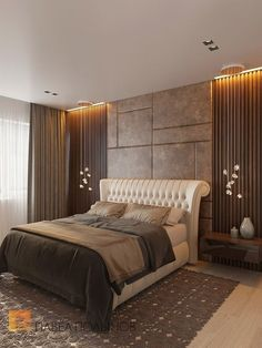 Bedroom Lighting Inspirations - Luxury Lamps Design - Let yourself be inspired by beautiful shapes, colors and designs from many types of lighting pieces - Modern Bedroom, Contemporary Bedroom, Bedroom Furniture Design, Bedroom Interior, Luxury Bedroom Design, Bedroom Design, Bed Design, Master Bedrooms Decor, Bedroom Decor