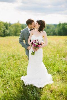 Photography: Zac Wolf Photography - www.zacxwolf.com  Read More: http://www.stylemepretty.com/new-england-weddings/2014/03/06/romantic-new-england-farm-wedding/