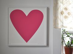 Image of Raspberry Pink Heart Print