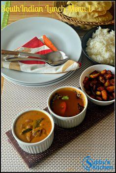 Masala chapathi and sweet chutney travel food recipes idea 6 southindian lunch menu 1 vengaya sambar thakkali rasam and urulai kara curry subbus forumfinder Image collections