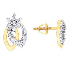 Beautifully designed Earring from Rivaaz gleaming with 28 diamonds