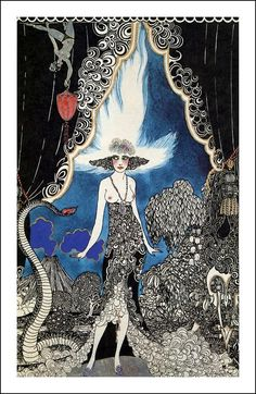 An illustration by Ronald Balfour for a 1920 deluxe signed edition of The Rubaiyat of Omar Khayyam.
