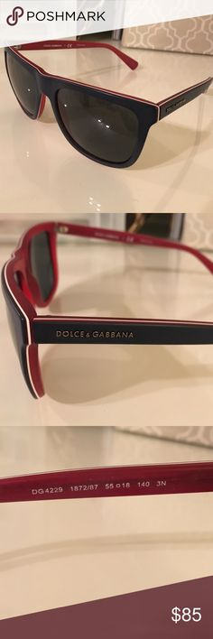 Dolce and Gabbana sunglasses Blue and red. Work for men and women. Dolce & Gabbana Accessories Sunglasses