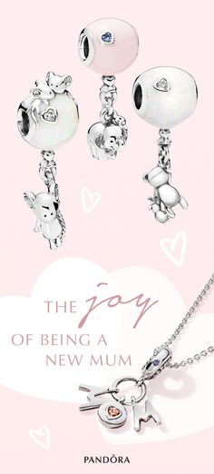 Surprise a mum-to-be or celebrate your new role in life with gorgeous balloon animal-inspired charms. Mothers Day Poster, Mothers Day Cards, Pandora Jewelry, Pandora Charms, Pandora Collection, Balloon Animals, Baby Crafts, Family Gifts, Shopping Hacks