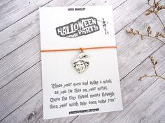 Halloween Party, Halloween Wish, Halloween Bracelet, Halloween Gift, Happy Halloween, My First Halloween, Halloween Jewelry,Halloween Favor