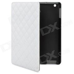 Rhombus Style Protective Case for Ipad 2 / The New Ipad - White