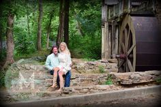 Morgan Myers Photography taken Tannehill  Ironworks Historical Park  Tannehill State Park, Alabama engagement picture rustic