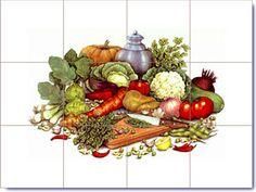 Kitchen Tiles With Fruit Design Cool Hand Painted Ceramic Tiles Fruit Bowl  Orange Fruit Lemon Art
