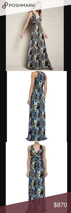 """Etro paisley print maxi dress All sold out elsewhere online! Size euro 38, similar to size S (runs small). I am 5'6"""" with a 34"""" bust and it fits me well. Stretchy and comfortable. No trades Etro Dresses Maxi"""