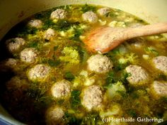 GAPS Friendly Meatball Soup Hearthside Gatherings: GAPS Diet, Stage 1 & 2