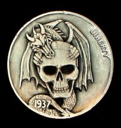 Howard Thomas - Dragon's Keep Old Coins, Rare Coins, Crane, Fantasy Wizard, Hobo Nickel, Coin Art, Bullion Coins, Dragon Pictures, Metal Clay Jewelry
