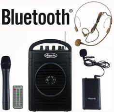 Hisonic Hs210 40 Watts Rechargeable & Portable Pa System With Built-In Vhf Wireless Microphones, Mp3 Player/Recorder & Fm Radio, Remote Control Included, And Bluetooth To Stream Music From Your Cellphones And Pads, Color Black, 2015 Amazon Top Rated PA Systems #MusicalInstruments