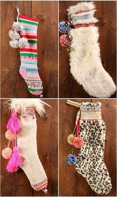 Unconventional Xmas - Free People DIY: fun Christmas stockings