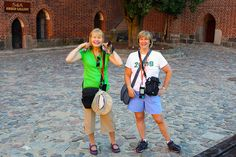 Elizabeth and Kathy, Malbork Castle.
