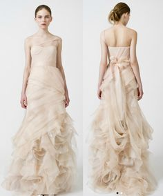 """Vera Wang """"Farrah' Gown. I will get married in this."""
