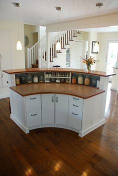 Kitchen Island Pics kitchen, light cherry cabinets, painted island |  finishes like