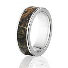 RealTree Xtra Official 7mm Ring, Titanium Camouflage Rings