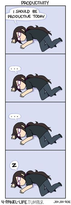 4-panel Life. It's amusing because I'm currently in exactly this position around my laptop.: