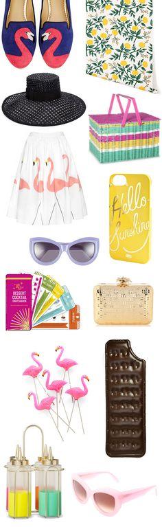 summer wishlist: flamingo flats & ice cream sandwich pool float please!