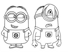 9 Best Minion Coloring Pages Images On Pinterest