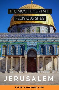 Jerusalem is one of the oldest & holiest cities in the world, home to important religious sites for Muslims, Jews, and Christians. These are the most sacred ones. Middle East Destinations, Amazing Destinations, Travel Destinations, Travel Info, Travel Hacks, Travel Guides, Travel Tips, Israel Travel, Israel Trip