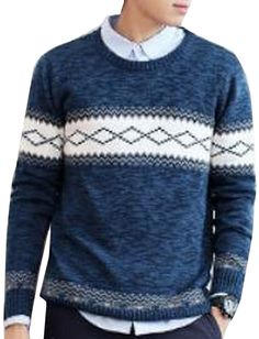 Coolred Men's Pullovers Sweater Casual Knit Pullover Top Blouse at Amazon Men's Clothing store:
