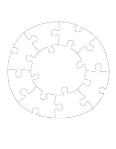 Jigsaw Puzzles Circle Puzzle Pattern