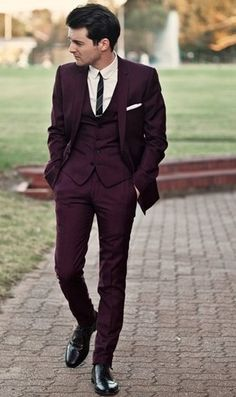 plum grooms suits - Google Search