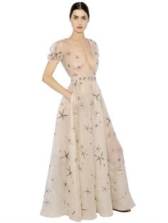 VALENTINO - EMBELLISHED SILK ORGANZA DRESS - LUISAVIAROMA - LUXURY SHOPPING WORLDWIDE SHIPPING - FLORENCE