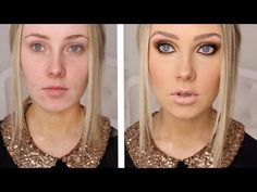 """This girl has lots of fun makeup tutorials!....& wow...that is a drastic difference!"" worth trying some of these sometime... perhaps"