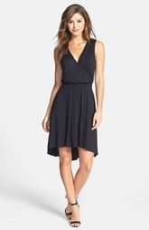 Caslon® Open Back High/Low Stretch Knit Dress (Regular & Petite)