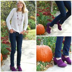 This Dansko Nori is super cute with jeans and a knit top! Comfy cozy! We just love the purple color as well!