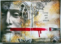"""there are no words."" Journal mixed media piece by Gayle Price."