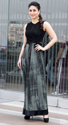 I'm looking for a similar maxi dress in black which Kareena Kapoor is wearing