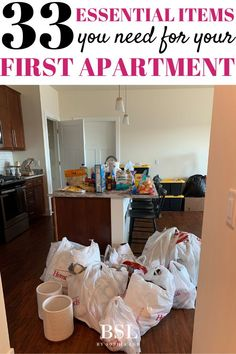Sending to my granddaughter who is moving into her first apartment! she is just graduating college this month and this first apartment checklist will be so helpful for her in her own apartment!