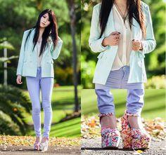 Lavender mint (by Isabel Z) http://lookbook.nu/look/3668599-lavender-mint