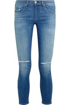 RAG & BONE The Capri Cropped Distressed Low-Rise Skinny Jeans. #ragbone #cloth #jeans