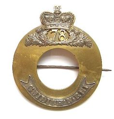 Scottish. 78th Highland Regiment (or Ross-shire Buffs) Officer's plaid brooch circa 1840-81.