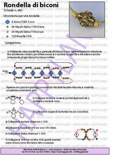 """Rondella de biconi"" beaded bead tutorial available from the blog of ""Le gioie de Happyland"" (In Italian), 1 page. Posted 21 febbraio 2009 = 21 February 2009.  [2 of 2]"