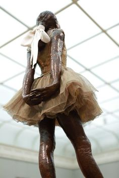 The Little Dancer by Edgar Degas, Musee D'Orsay, Paris. Seeing her in person brought me to tears! She is stunning. Paris 2013